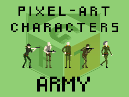 Pixel Art Characters - Army pack