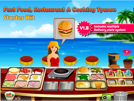 Fast food, Restaurant & Cooking Tycoon Starter Kit