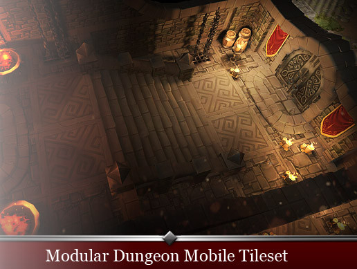 Modular Dungeon Mobile Tileset