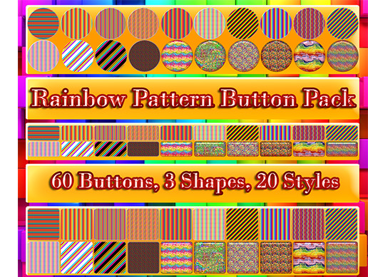 Rainbow Pattern Button Pack