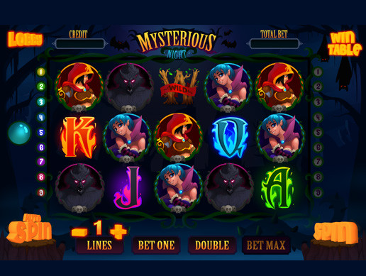 Mysterious night slot game kit