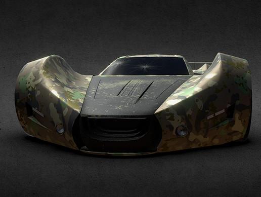 Race game car, car concept (Low Poly)