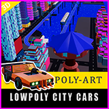 city cars low poly