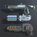 Colorful Sci-Fi Weapons and Items Pack