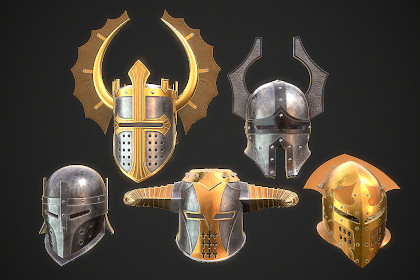 Knight Helmet Collection 2