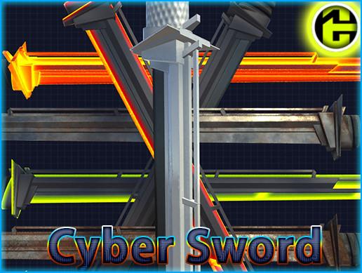 LowPoly Cyber Ninja Sword
