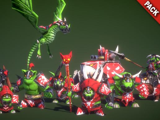 Mini Legion Orc Warband PBR