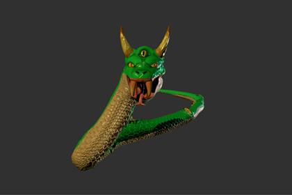 Animated Fantasy Snake