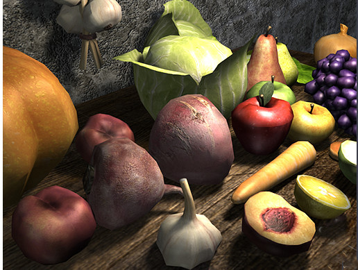 Medieval Fruits Vegetables - Asset Store