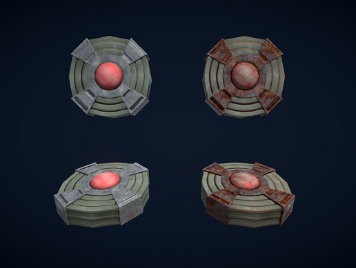 Low poly PBR Landmines (Scripts included)