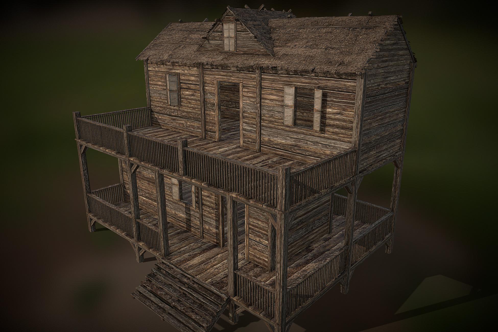 Medieval Wooden Shack 02