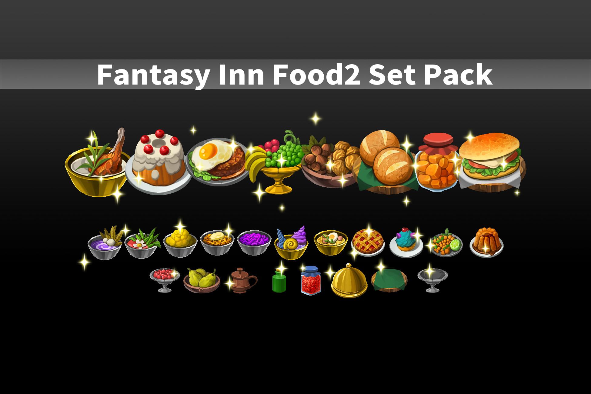 Fantasy Inn Food2 Set Pack