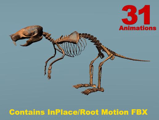 Cartoon Rat Skeleton (Short Version)