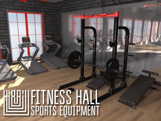 Fitness hall - sports equipment