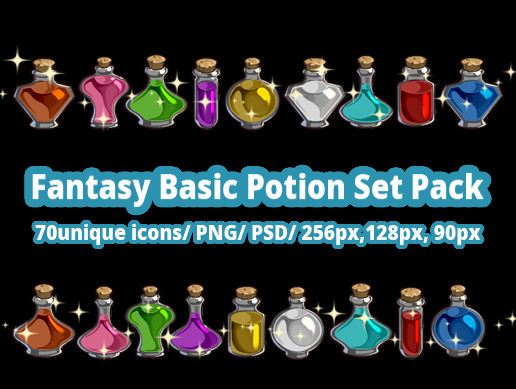 Fantasy Basic Potion Set Pack