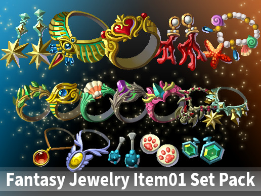 Fantasy Jewelry Item01 Set Pack