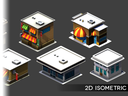 2D Isometric Cartoon City Vol. 2
