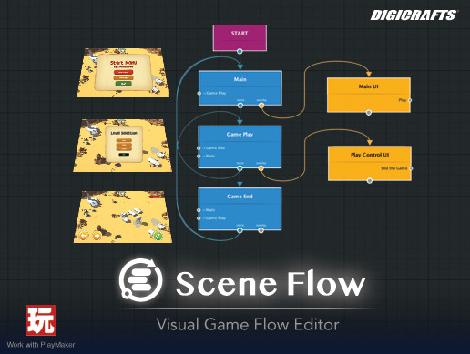 Scene Flow - Visual Game Flow Editor