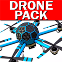 Professional Drone Pack + Drone Controller (VR, PC, Mobile, Gamepad)