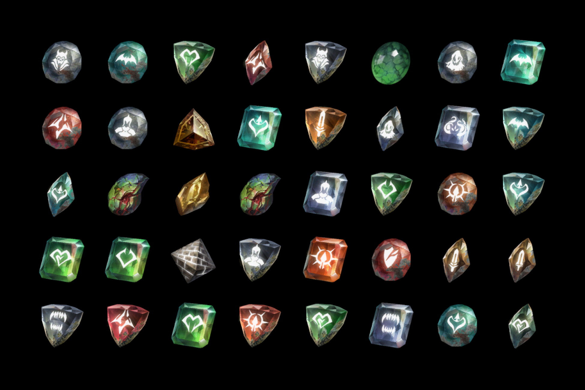 Dark Gemstone Icons