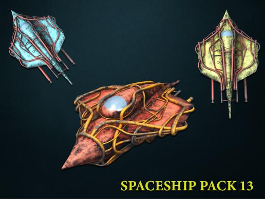 3D Spaceship Pack Vol 13