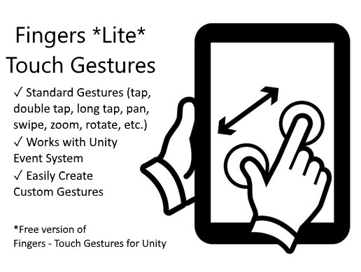 Fingers Lite - Free Finger Touch Gestures for Unity - Asset