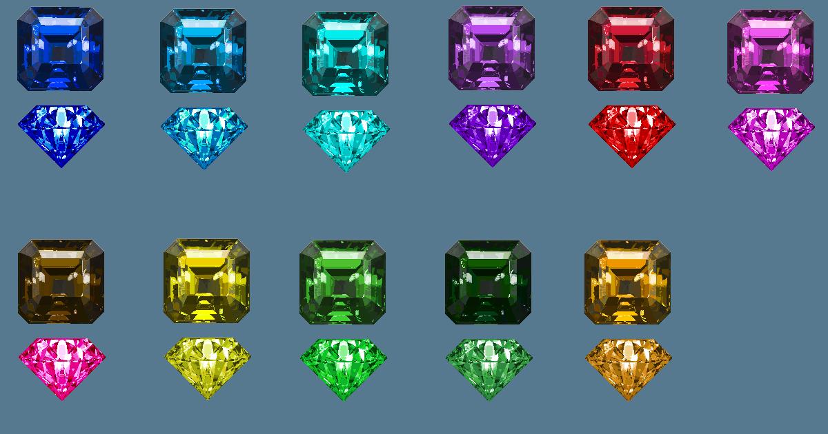 2d Free PixelArt Realistic Crystals Pack