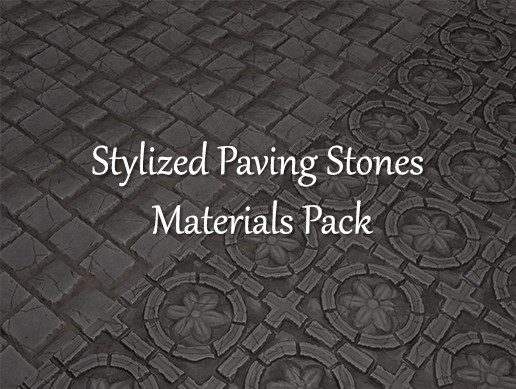 Stylized Paving Stones Materials Pack