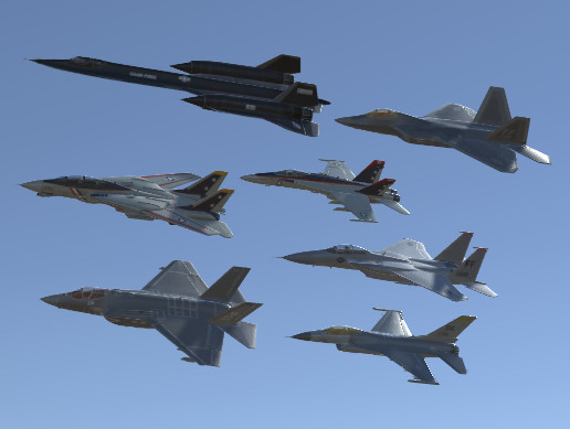 USA Air Forces Jet Fighters Pack