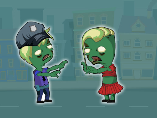 2D Chibi Zombie Pack - Character Animated Ready for Mobile