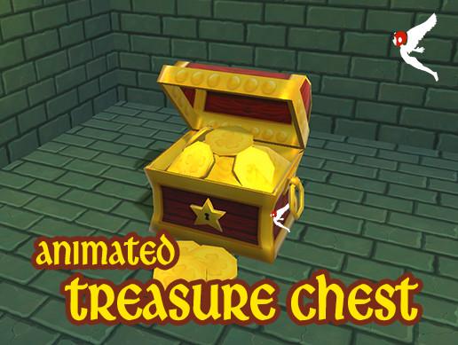 Animated Cartoon Treasure Chest
