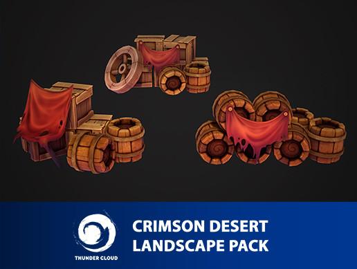 Crimson Desert Landscape Props pack - Unity package