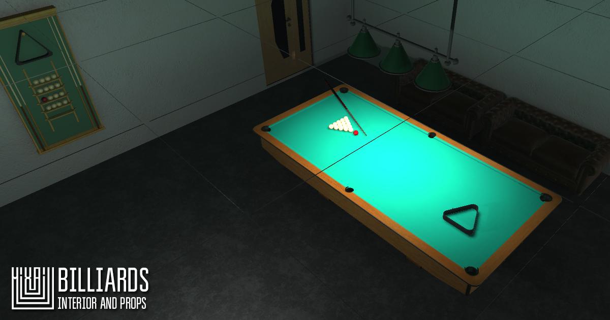Billiards - interior and props