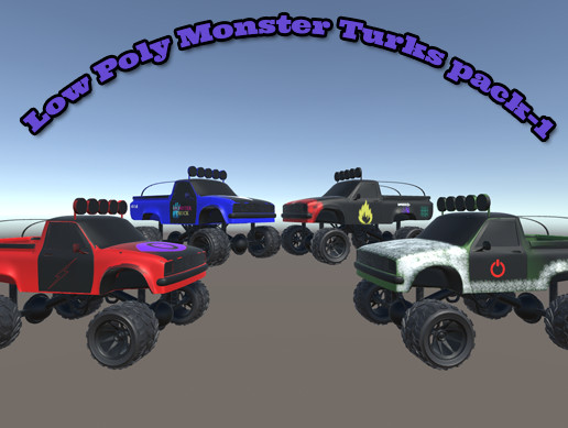 Low Poly Monster Turks pack-1
