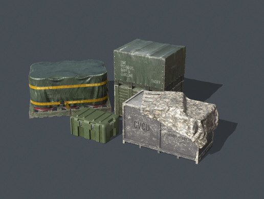 Military Containers Pack PBR