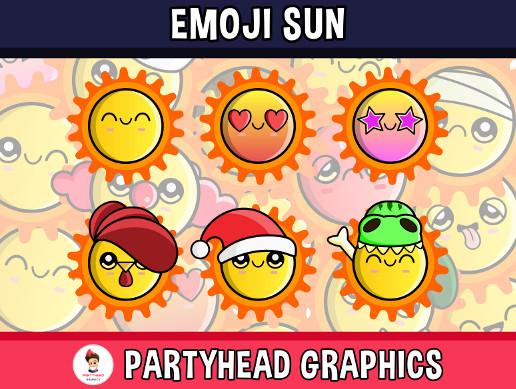 Emoji Emotion Faces Sun