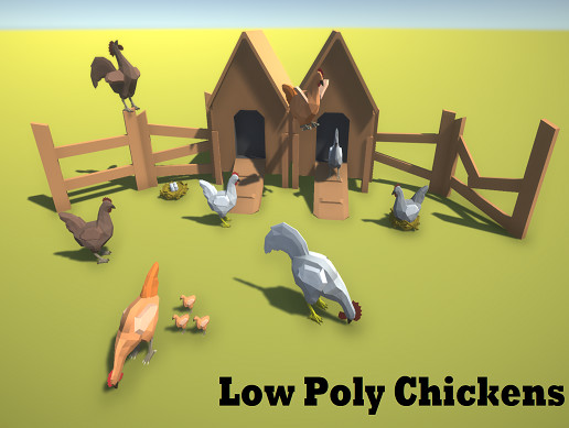 Low Poly Chickens