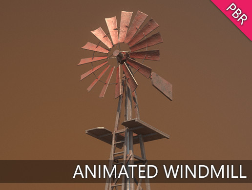 Animated Farm Windmill / Windpump