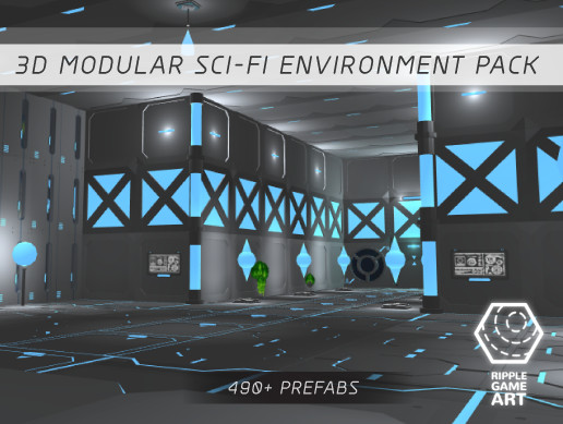 3D Modular Sci-Fi Environment Pack - Asset Store