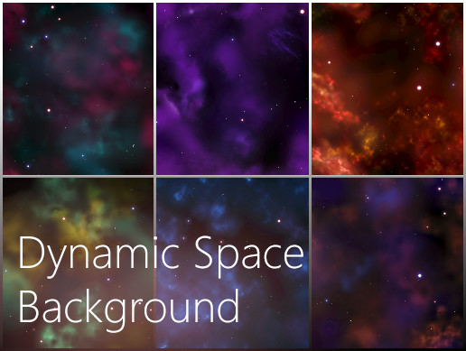 Dynamic Space Background - Asset Store
