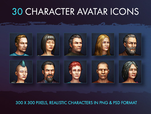 Character Avatar Icons - Modern