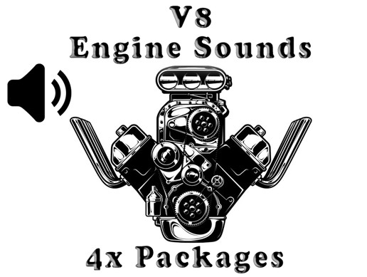 V8 Engine Sounds - 4x Packages