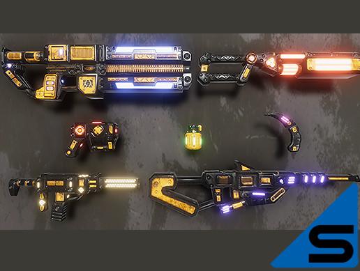 SciFi Weapons set