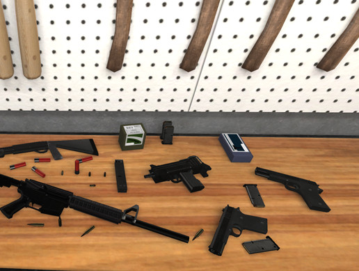 35 Guns/Weapons and Pick-ups (LowPoly)