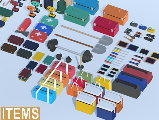 3D Simple Items - Low Poly Assets
