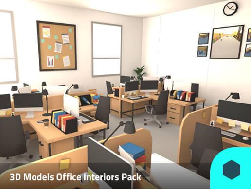 3D Models Office Interiors Pack