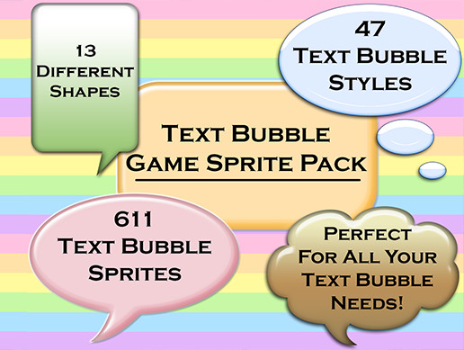 Text Bubble Game Sprite Pack