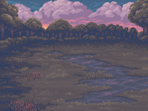 Pink Sunset Battle Background