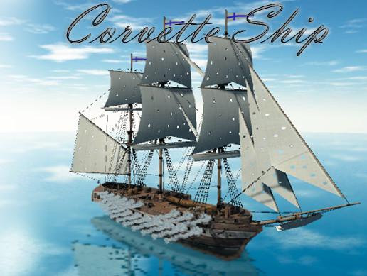Corvette Ship - Asset Store