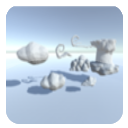3LE Low Poly Cloud Pack